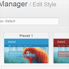 Kallos Joomla template with Presets