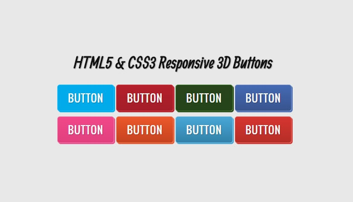 HTML5 and CSS3 3D Buttons